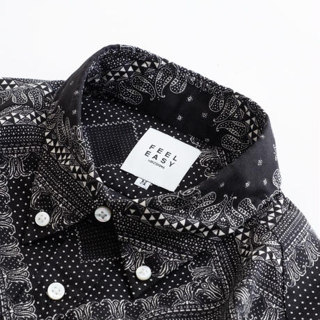 FEEL EASY ORIGINAL BANDANA B.D SHIRT(Black)