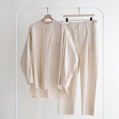 UNITUS Wide Tuck Pants(Ivory)