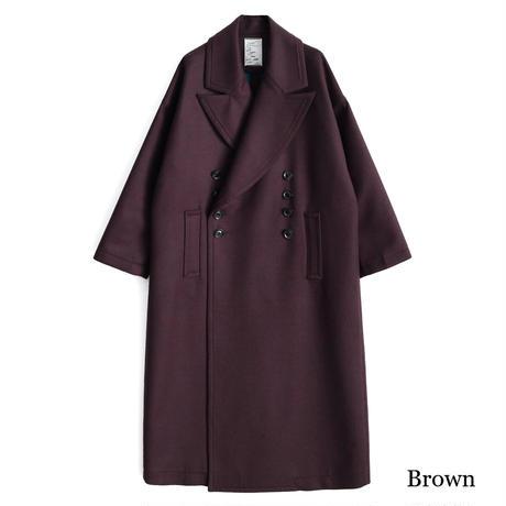 SHAREEF W FACE MELTON BIG COAT(Brown)