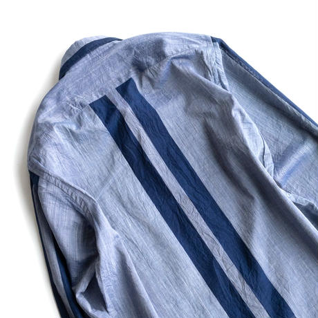 FEEL EASY ORIGINAL DOUBLE STRIPE LAWN SHIRT(Blue)