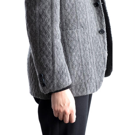 FEEL EASY ORIGINAL CABLE PATTERN JACKET(Gray)