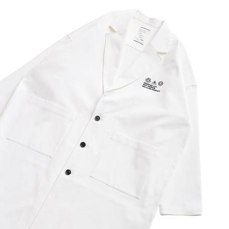 SHAREEF COTTON PIQUE LABORATORY COAT(White)