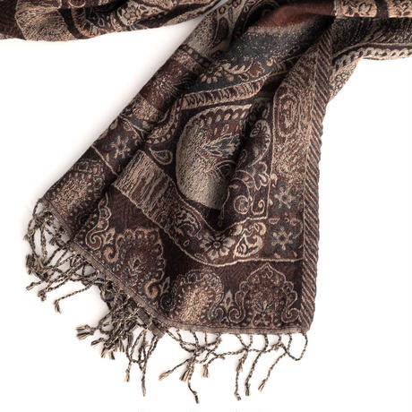 Iroquois PAISLEY CUT-JQ STOLE(BROWN)
