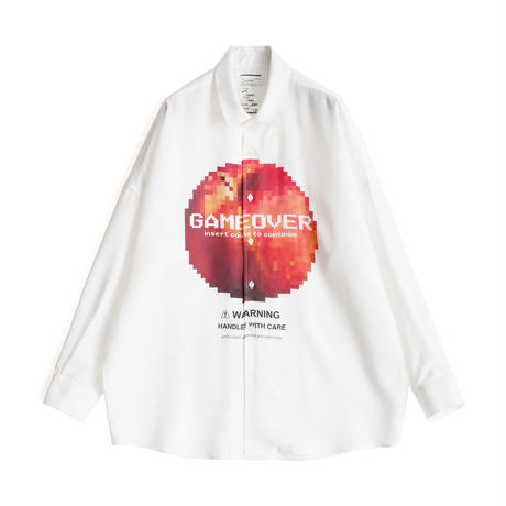 "SHAREEF ""DOT APPLE"" BIG SHIRTS(White)"