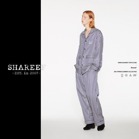 SHAREEF STRIPE PAJAMAS PANTS(White)