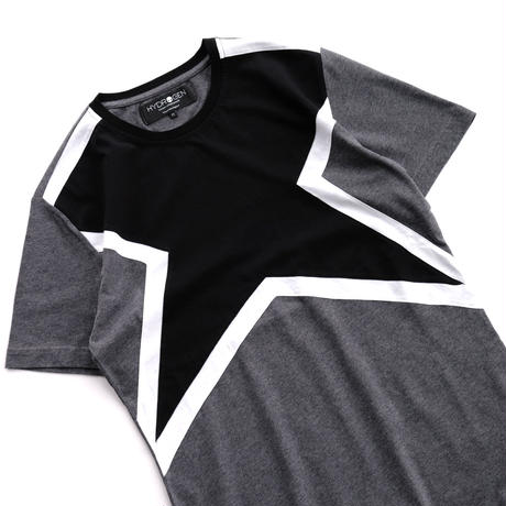 HYDROGEN SUPER STAR TEE(BLACK×CHARCOAL)