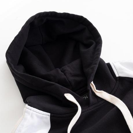 HYDROGEN SPORTSWEAR COLLEGE HOODIE(BLACK×WHITE)