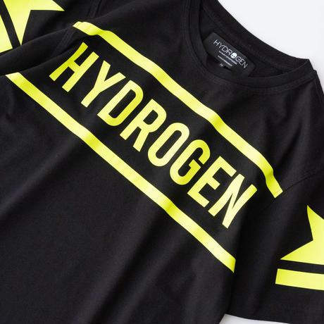 HYDROGEN HYDROGEN TEE(BLACK×YELLOW FLUO)