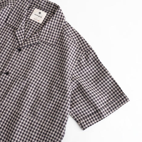 Snow Peak C/L Panama Shirt(Black Check)