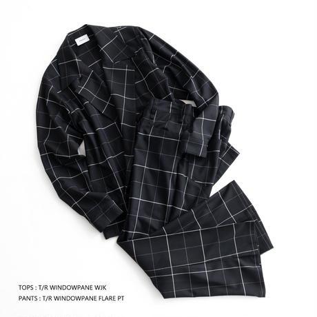 Iroquois T/R WINDOWPANE FLARE PT(BLACK)