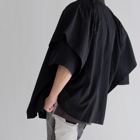 DISCOVERED Limonta Vintage Nylon Layered Shirt(BLACK)