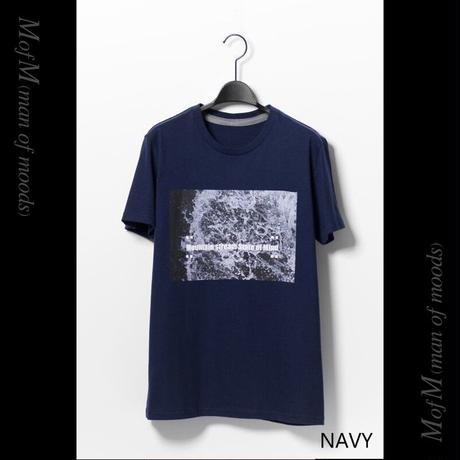 MofM(man of moods) オリジナルフォトグラフィックTシャツ Mountain stream State of Mind(WHITE/NAVY/GRAY)