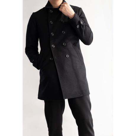 MofM(man of moods) ミドル丈シグニチャーPコート(BLACK)