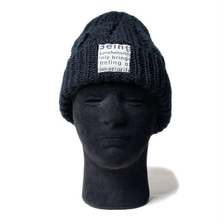 MofM(man of moods) CABLE-KNIT BEANIE(BLACK)