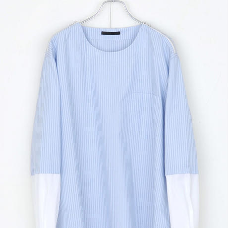 DISCOVERED LAYERED PULLOVER(BLUE×WHITE)