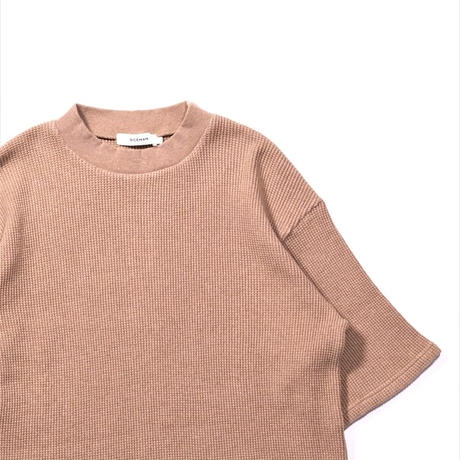 RICEMAN Half Sleeve Waffle Pullover(BROWN)