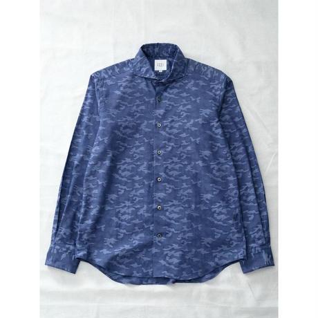 FEEL EASY ORIGINAL CAMOUFLAGE JAQUARD SHIRT(Blue)