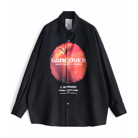 "SHAREEF ""DOT APPLE"" BIG SHIRTS(Black)"
