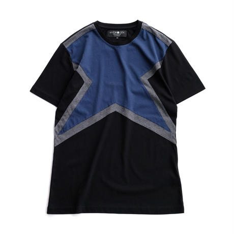 HYDROGEN SUPER STAR TEE(BLUE×BLACK)