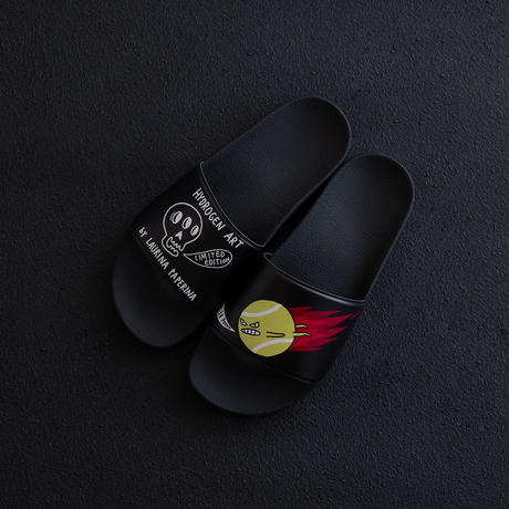 HYDROGEN HYDROGEN×LAURINA PAPERINA KILLER POINT SLIPPERS(BLACK)
