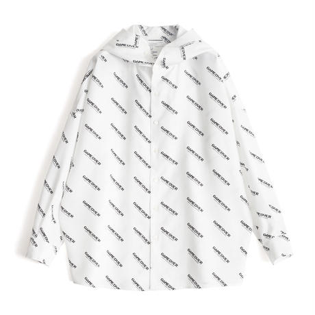 SHAREEF GAME OVER LOGO HOODIE SHIRTS(White)