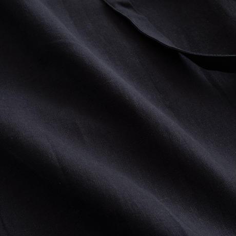 【WOMEN'S】THE FACTORY コットンリネンパンツ(Black)