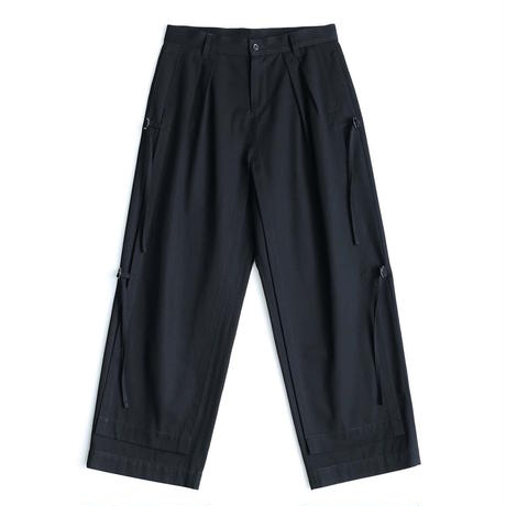 SHAREEF KERSEY LAYERED PANTS(Black)