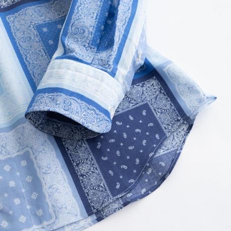 FEEL EASY ORIGINAL BANDANA LAWN SHIRT(Blue)