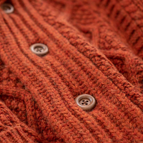 Snow Peak Alpaca Knit Cardigan(Maroon)