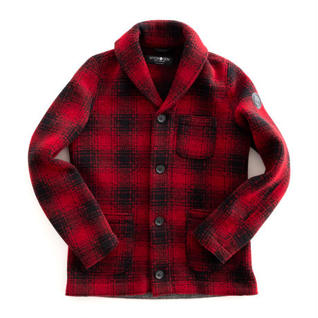 HYDROGEN CARDIGAN(RED×BLACK CHECK)