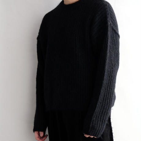 DISCOVERED KID MOHAIR KNIT(BLACK)