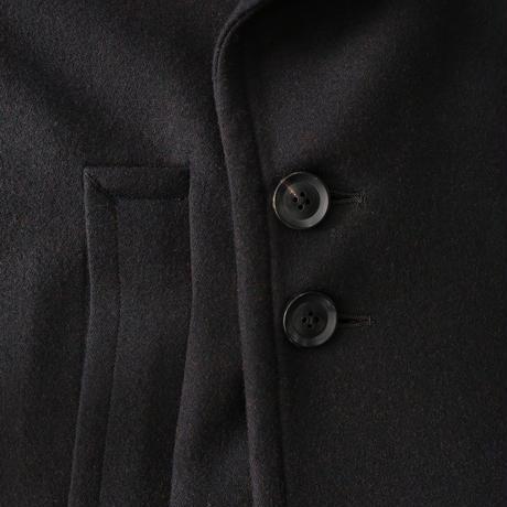 SHAREEF W FACE MELTON BIG COAT(Black)