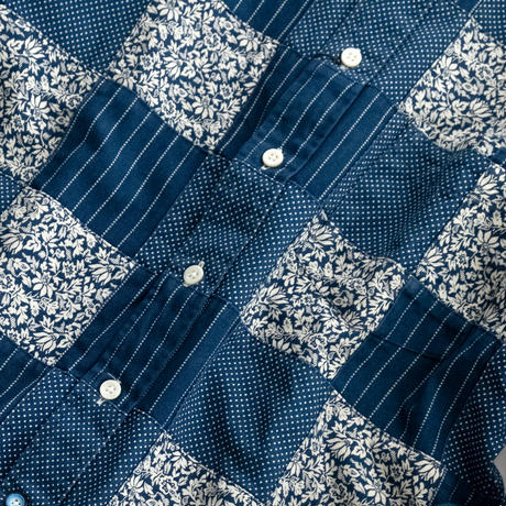 FEEL EASY ORIGINAL PATCHWORK INDIGO SHIRT(Indigo)