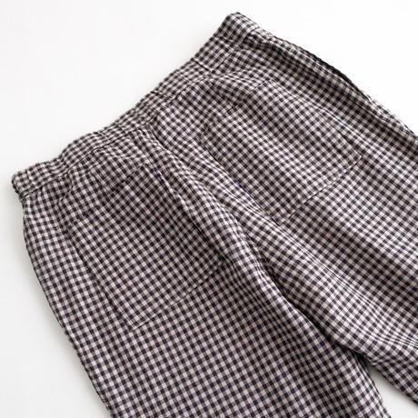 Snow Peak C/L Panama Easy Pants(Black Check)
