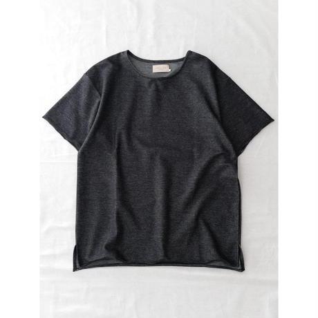 VALLIS by FACTOTUM フロートインレーBIG-Tシャツ(BLACK)
