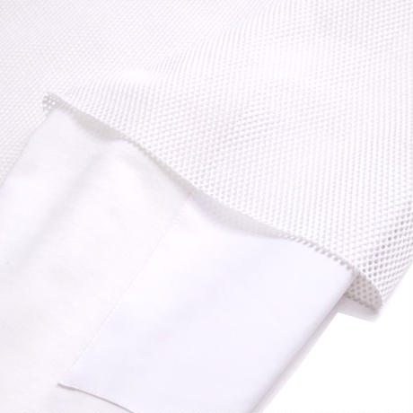 DISCOVERED MESH LAYERED CUTSEWN(WHITE)