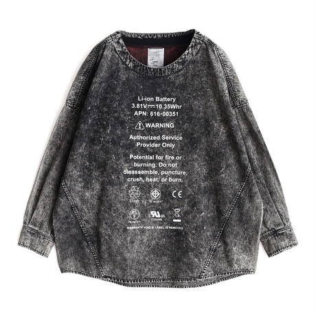 SHAREEF DENIM PULL OVER(Black Chemical)