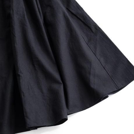 【WOMEN'S】THE FACTORY コットンリネンスカート(Black)