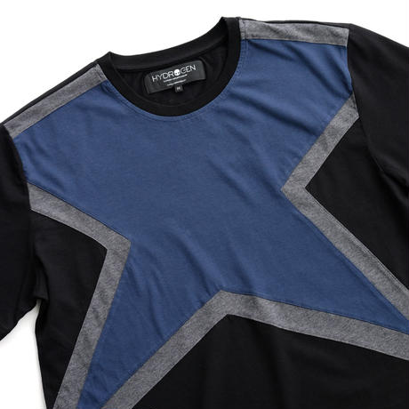 HYDROGEN SUPER STAR TEE(BLUE×BLACK)