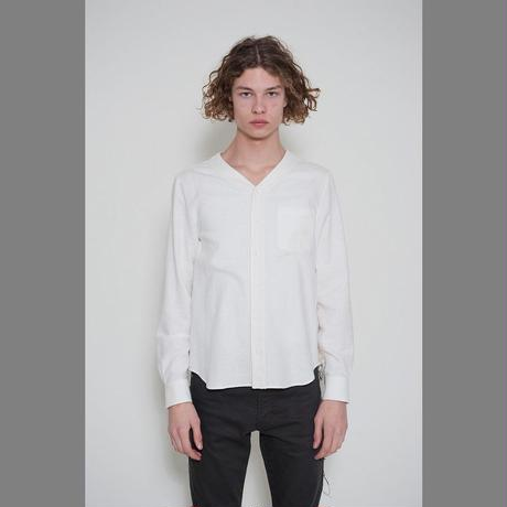 DISCOVERED V NECK SHIRT(WHITE)