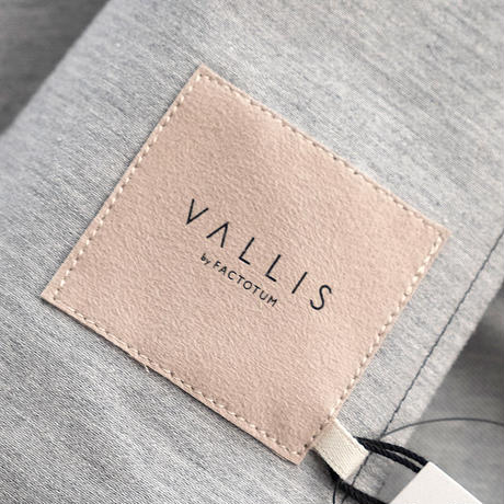 VALLIS by FACTOTUM メランジインレー 1Bジャケット(GRAY)