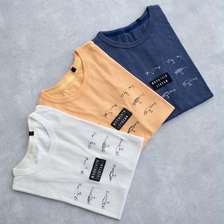 MofM(man of moods) オリジナルTシャツ MOUNTAIN STREAM(WHITE/YELLOW/NAVY)