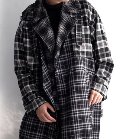 Iroquois LAYRED TRENCH CO T/R CHECK(BLACK)