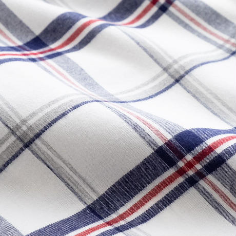 FEEL EASY ORIGINAL MADRAS CHECK FLANNEL SHIRT(White)