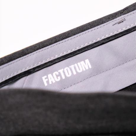 FACTOTUM T/Rツイルストレッチ ワイドスラックス(D.GRAY)