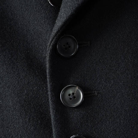 SHAREEF WOOL MELTON MIDDLE COAT(Black)