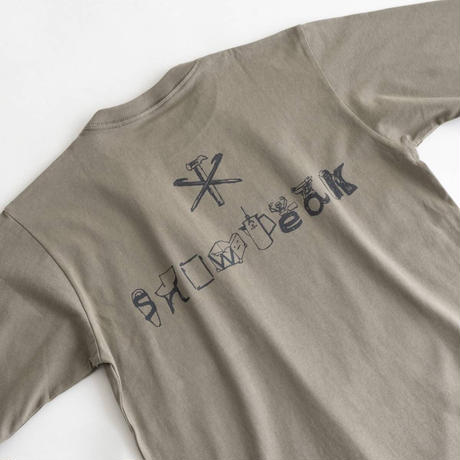 Snow Peak Printed L/S T SP Camping Gear Logo(Black/Gray Khaki/White)