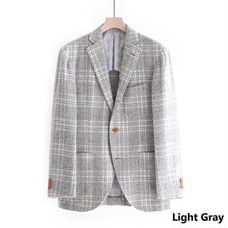 FEEL EASY ORIGINAL W-FACE CHECK JACKET(Light Gray)