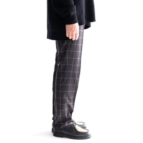 FEEL EASY ORIGINAL WINDOWPANE PANTS(Charcoal)