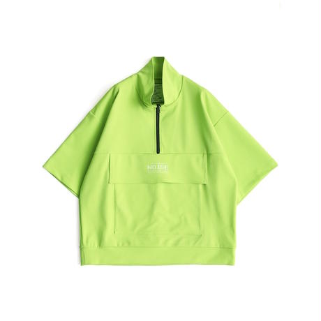 SHAREEF MILAN RIB HALF-ZIP S/S(Lime Green)